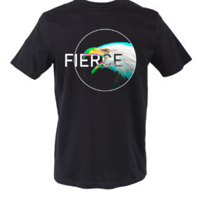 Basic T-shirt Uomo stampa FIERCE Nera