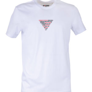 Basic T-shirt Uomo stampa TRIANGLE Bianca