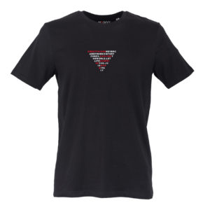 Basic T-shirt Uomo stampa TRIANGLE Nera