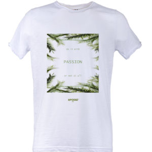 Rawcut T-shirt Uomo stampa DO IT WITH PASSION Bianca