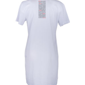 Tee Dress Donna stampa TAG bianco